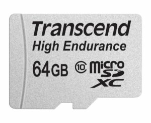 Transcend High Endurance Card 64GB - best micro sd card for car dash cam