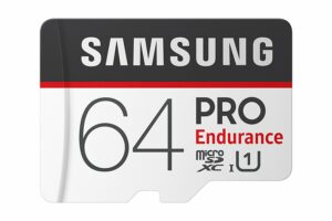 Samsung Pro Endurance 64GB - high endurance sd card for dash cam