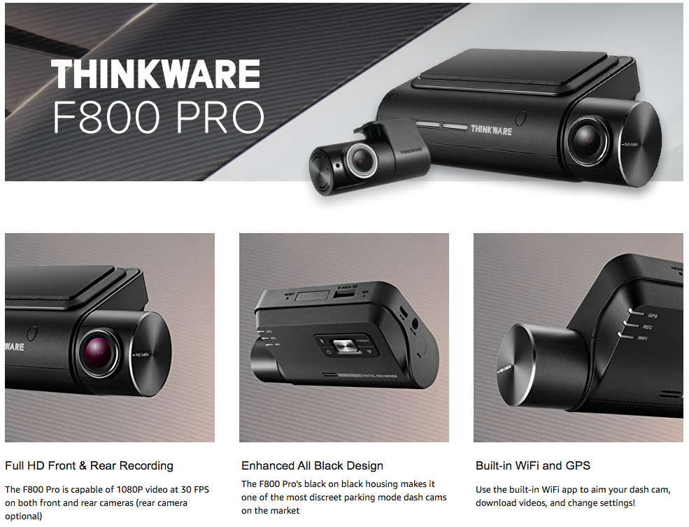Review : Thinkware F800 Pro Dashcam Product Review