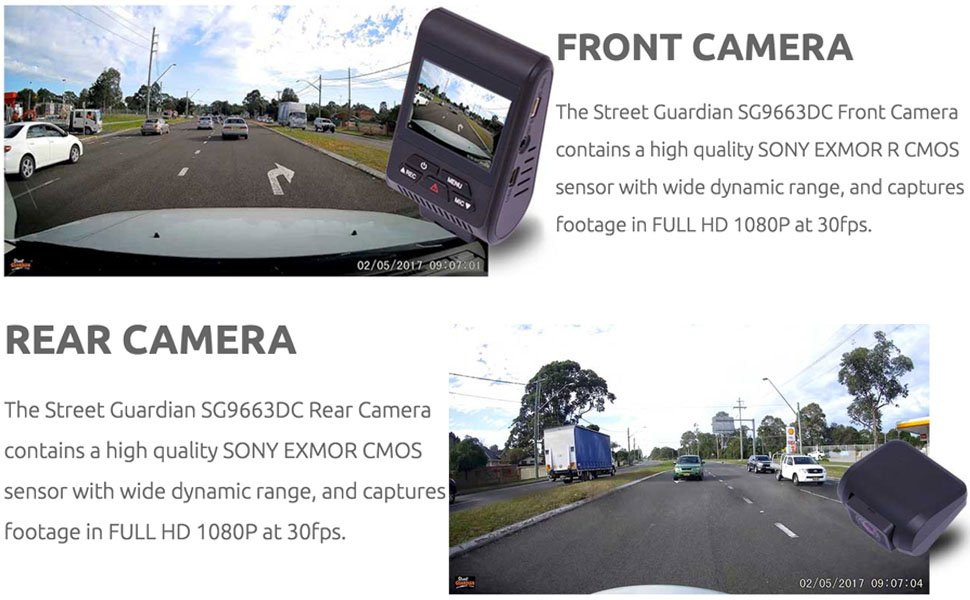 Review Street Guardian SG9663DC – Dual Channel Dashcam